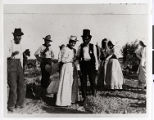 Photograph of Chief Tecopa and Della Fisk with others, Pahrump Valley or Ash Meadows, Nevada,...