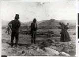 Photograph of Chief Tecopa with others, Ash Meadows or Pahrump Valley, Nevada, circa 1880s-1910s
