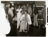 Photograph of Judy Bayley at a public event at the Hacienda Hotel and Casino, Las Vegas, Nevada,...