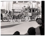 Film transparency of a stagecoach entry in the Helldorado Parade on Fremont Street, Las Vegas,...