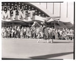 Film transparency of a woman riding a horse in the Helldorado Parade on Fremont Street, Las Vegas,...