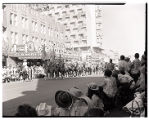 Film transparency of a group of women on horseback in the Helldorado Parade, Fremont Street, Las...