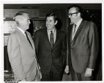 Photograph of Mayor Oran K. Gragson, Alaska Senator Mike Gravel, and John H. Meier of the...