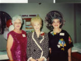 Photograph of Lucille Barth, Blanche Zucker and Florence Ortiz at a University Library Society...