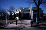 Slide of people outside of the Nevada State Governor's Mansion, Carson City, Nevada, June 1985