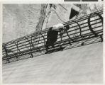 Photograph of Marleau Cragin, Hoover Dam, circa early 1930s
