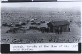 Photograph of a boom camp in Weepah (Nev.), 1927