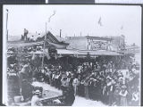 Photograph of a carnival celebrating the arrival of Tonopah's railroad (Nev.), 1904