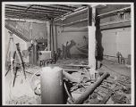 Photograph of construction workers inside for Stardust renovation, Las Vegas, (Nev.), March, 1975