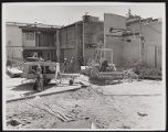 Photograph of exterior construction and workers for Stardust renovation, Las Vegas, (Nev.), March...