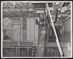 Photograph of construction workers and interior of Stardust renovation, Las Vegas, (Nev.), March...