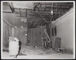 Photograph of construction worker on ladder for Stardust renovation, Las Vegas, (Nev.), March 18,...