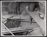 Photograph of construction worker with equipment for Stardust renovation, Las Vegas, (Nev.), March...