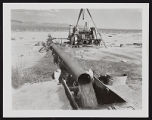 Photograph of irrigation drain on Dorothy Ranch, Pahrump (Nev.), 1950-1969