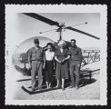 Photograph of helicopter couple and Dorothy's, Mount Charleston (Nev.), March 1957