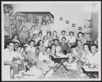 Photograph of Democratic meeting inside Dorothy home, Pahrump (Nev.), August 1950