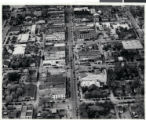 Aerial photograph of downtown Las Vegas, circa 1930s-1940s
