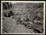 Photograph of water diversion, Hoover Dam construction site, April 20, 1933