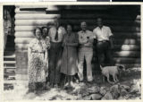 Photograph of Frank Garside and others, Mt. Charleston, Nevada, circa 1930s