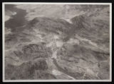 Aerial photograph of downstream face of Hoover Dam, circa 1933-1935