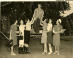 Photograph of Sherwin Garside surrounded by female admirers, Las Vegas, circa 1930s