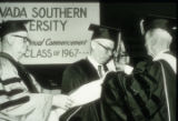 Slide of commencement ceremony for University of Nevada, Las Vegas, circa 1967