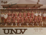 Photograph of the 1979-80 Runnin' Rebel basketball team, 1980