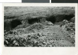 Photograph of caves, circa late 1800s to early 1900s