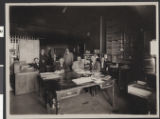 Photograph of Lester Stocker and others in a telegraph office, Winslow, Arizona, circa 1909