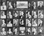 Film transparencies of students at Clark County High School, Las Vegas, circa early 1900s