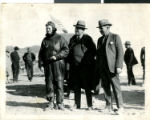 Photograph of Frank Horton , George Wingfield, and A. J. Moore in Weepah, Nevada, 1924
