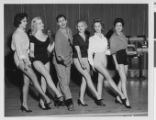 Photograph of Jerry Lewis and several Copa Girls, Las Vegas, circa 1958