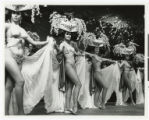 Photograph of showgirls performing in the Lido de Paris at the Stardust Hotel, Las Vegas (Nev.),...