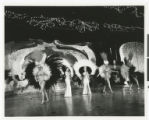Photograph of showgirls and performers in the Lido de Paris at the Stardust Hotel, Las Vegas...