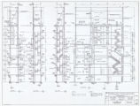 Architectural drawing of the Flamingo Hilton tower addition (Las Vegas), stair number 2 sections,...