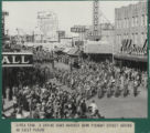 Photograph of a parade on Fremont Street (Las Vegas), 1948