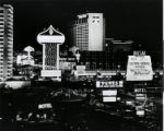 Photograph of the Las Vegas Strip at night, late 1970s