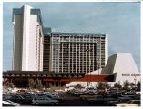 Photograph of front face and entrance of the MGM Grand Hotel (Las Vegas), circa late 1970s