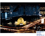 Aerial photograph of original MGM Grand Las Vegas front entrance, mid 1990s