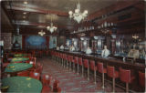 Postcard showing the Golden Nugget Gambling Hall interior (Las Vegas), after 1946