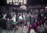 Film transparency of gamblers in Golden Nugget Gambling Hall (Las Vegas), circa 1950s