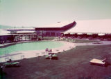 Film transparency of the swimming pool and patio area of Wilbur Clark's Desert Inn (Las Vegas),...