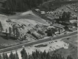 Aerial photograph of Tahoe Plaza (Stateline, Nev.), circa 1955