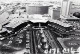Aerial photograph of the front exterior of Caesars Palace (Las Vegas), July 1980