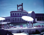 Film transparency of the swimming pool area at the Showboat Hotel and Casino (Las Vegas), circa...
