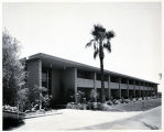 Photograph of the Hollywood Park guest wing at the Sands Hotel (Las Vegas), 1950s