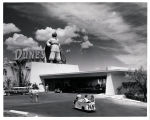 Photograph of the Dunes Hotel front entrance (Las Vegas), circa 1950s