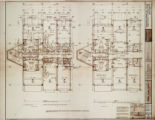 Architectural drawing for MGM Grand Hotel (Las Vegas), floor plans, townhouse suites floors 21-22,...