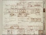 Architectural drawing of MGM Grand Hotel (Las Vegas). plan and elevations of casino area,...