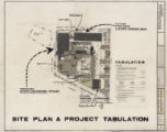 Architectural drawing of Sahara Hotel Convention Center (Las Vegas), site plan and project...